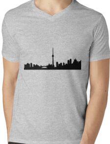 Toronto Skyline Shirt Mens V-Neck T-Shirt