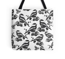 Chickadee Bird Pattern Tote Bag