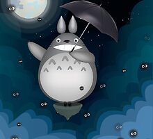 Night Time Totoro by megamew