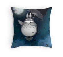 Night Time Totoro Throw Pillow