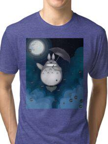Night Time Totoro Tri-blend T-Shirt