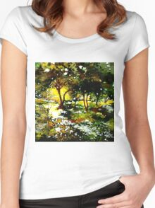 Morning Light Women's Fitted Scoop T-Shirt