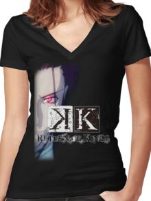 K - Project - Mikoto Suoh [Return Of Kings] Women's Fitted V-Neck T-Shirt