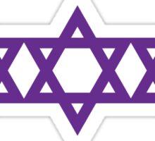 three purple stars Sticker