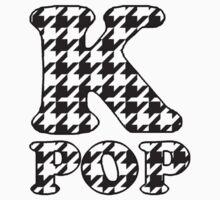 KPOP - BLACK HOUNDSTOOTH One Piece - Short Sleeve