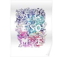 awesome COLOR DOODLE Poster