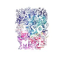 awesome COLOR DOODLE Photographic Print