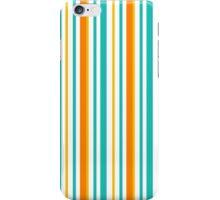 Blue and orange stripes iPhone Case/Skin