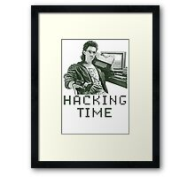 Hackerman hacking time Framed Print