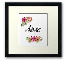 Aloha line Framed Print