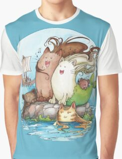 Siren Cats Graphic T-Shirt
