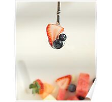 Fruit on Spoon Poster