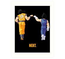 Next. (back or front) Art Print