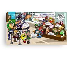 Smash Bros funny Canvas Print
