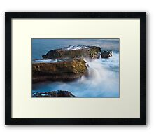 West Cliff Waterfalls Framed Print