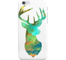 Galaxy Nebula - Glitter Deer Head iPhone Case/Skin