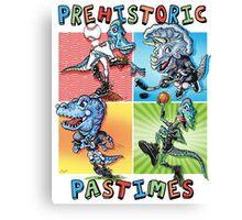 Prehistoric Pastimes Dinosaur  Youth Sports Canvas Print