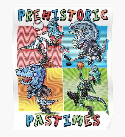 Prehistoric Pastimes Dinosaur  Youth Sports Poster