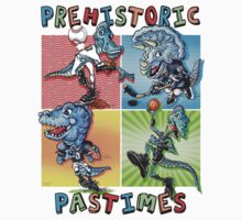 Prehistoric Pastimes Dinosaur  Youth Sports Kids Tee