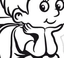 loo wc little boy Sticker