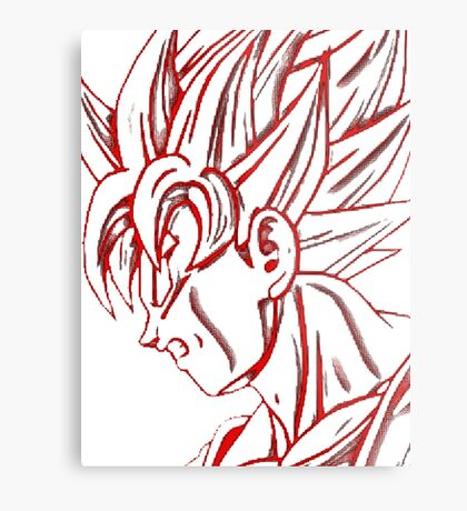 Goku super saiyan (red) Metal Print
