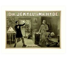 Gothic fiction - dr. jekyll and mr. Hyde Art Print
