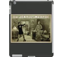 Gothic fiction - dr. jekyll and mr. Hyde iPad Case/Skin