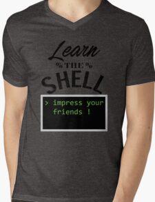 Learn the shell Mens V-Neck T-Shirt