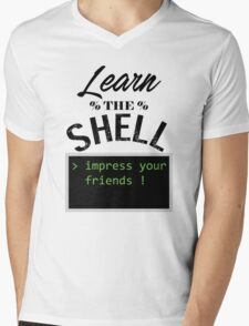 Learn the shell Mens V-Neck T-Shirt