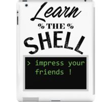 Learn the shell iPad Case/Skin