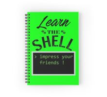 Learn the shell Spiral Notebook