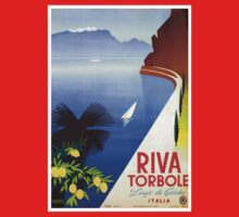 Travel Italy 1920s Lake Garda Riva Torbole Gardesana advert Kids Clothes