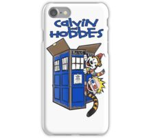Calvin And Hobbes Tardis iPhone Case/Skin