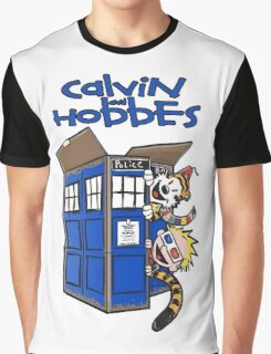 Calvin And Hobbes Tardis Graphic T-Shirt