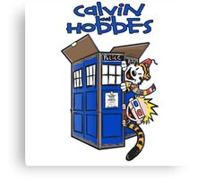 Calvin And Hobbes Tardis Canvas Print