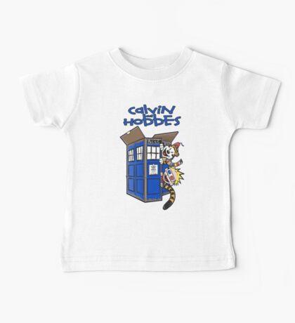 Calvin And Hobbes Tardis Baby Tee