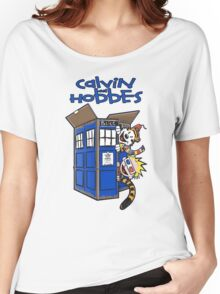 Calvin And Hobbes Tardis Women's Relaxed Fit T-Shirt