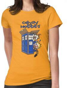 Calvin And Hobbes Tardis Womens Fitted T-Shirt