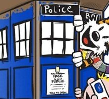 Calvin And Hobbes Tardis Sticker