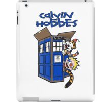 Calvin And Hobbes Tardis iPad Case/Skin