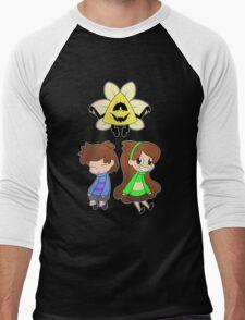 Gravity Falls Crossover (colour ver) Men's Baseball ¾ T-Shirt