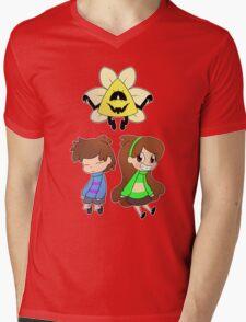 Gravity Falls Crossover (colour ver) Mens V-Neck T-Shirt
