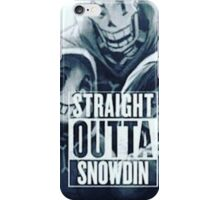 Straight out of Snowden  iPhone Case/Skin