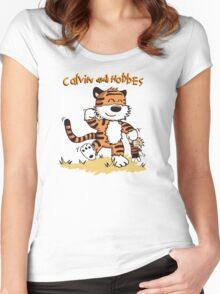 Calvin An Hobbes Women's Fitted Scoop T-Shirt
