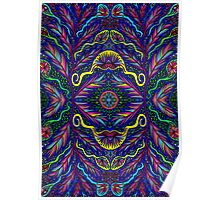 Psychedelic Abstract colourful work 124 Poster