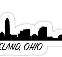 Cleveland Ohio Skyline City  Sticker