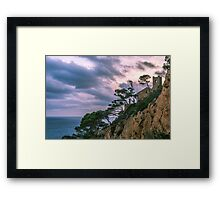 House at the mediterranean sea Framed Print