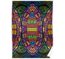 Psychedelic Abstract colourful work 121 Poster