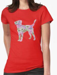 Labrador Retriever in Colorful Floral Garden Pattern T-Shirt