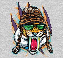 Sabre Tooth Tiger Chillin' With Winter Beanie Unisex T-Shirt
